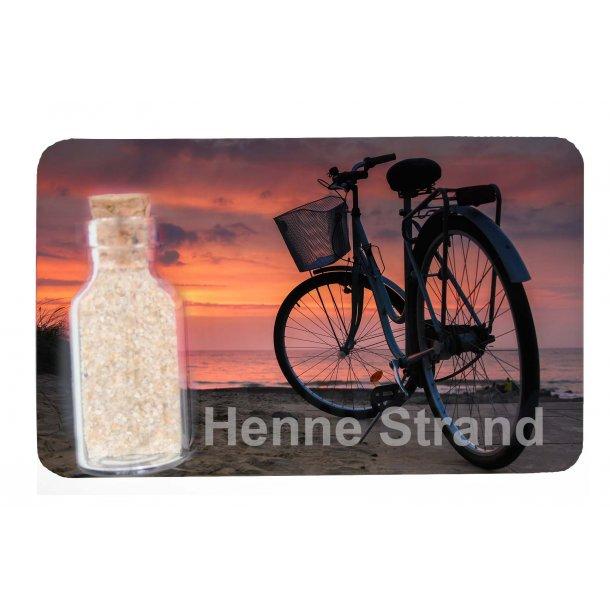 Magnet Med Flaske Cykel Vesterhavet Henne Strand