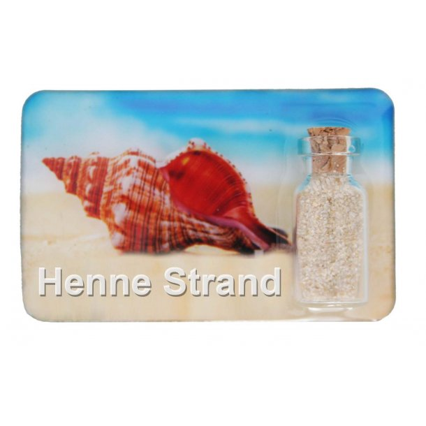 Magnet Med Flaske Konkylie Vesterhavet Henne Strand