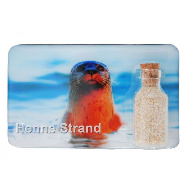 Magnet Med Flaske Sæl Vesterhavet Henne Strand