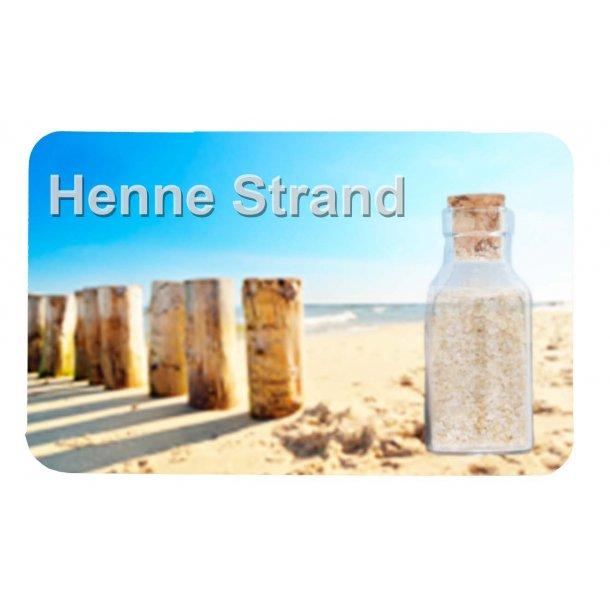 Magnet Med Flaske Søjler Vesterhavet Henne Strand