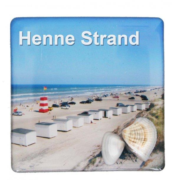 Magnet Med Musling Huse Vesterhavet Henne Strand