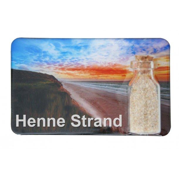 Magnet Med Flaske Strand Vesterhavet Henne Strand