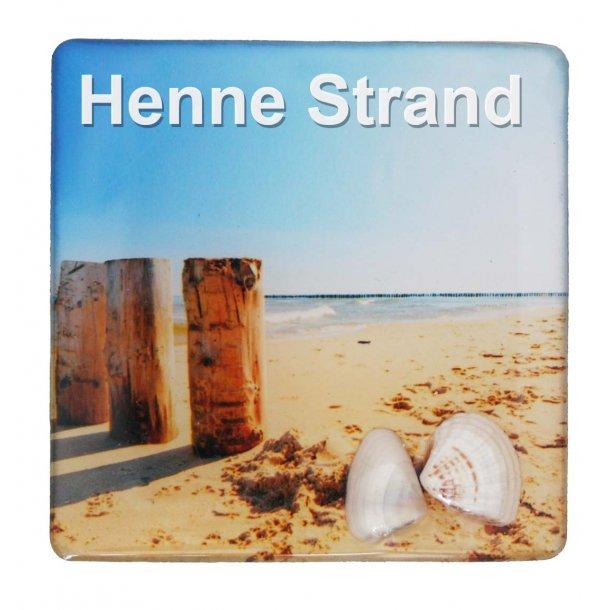 Magnet Med Musling Søjler Vesterhavet Henne Strand