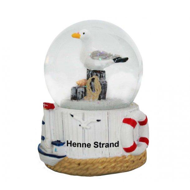 Snekugle Måge Vesterhavet Henne Strand
