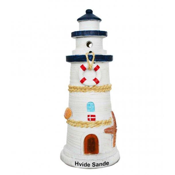 Fyrtårn Med Lys Vesterhavet Hvide Sande