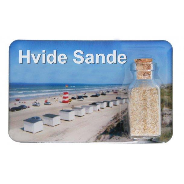 Magnet Med Flaske Huse Vesterhavet Hvide Sande