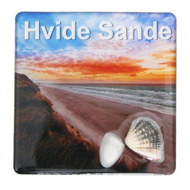 Magnet Med Musling Strand Vesterhavet Hvide Sande