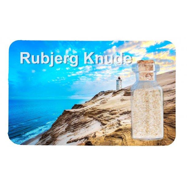 Magnet Med Flaske Fyrtårn Ved Havet Vesterhavet Rubjerg Knude
