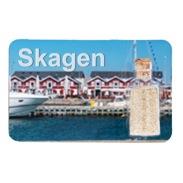 Magnet Med Flaske Havn Vesterhavet Skagen