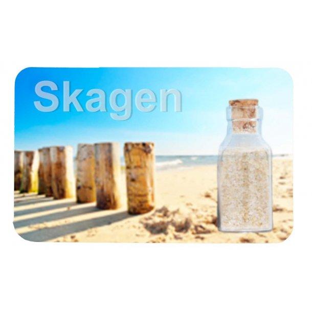 Magnet Med Flaske Søjler Vesterhavet Skagen