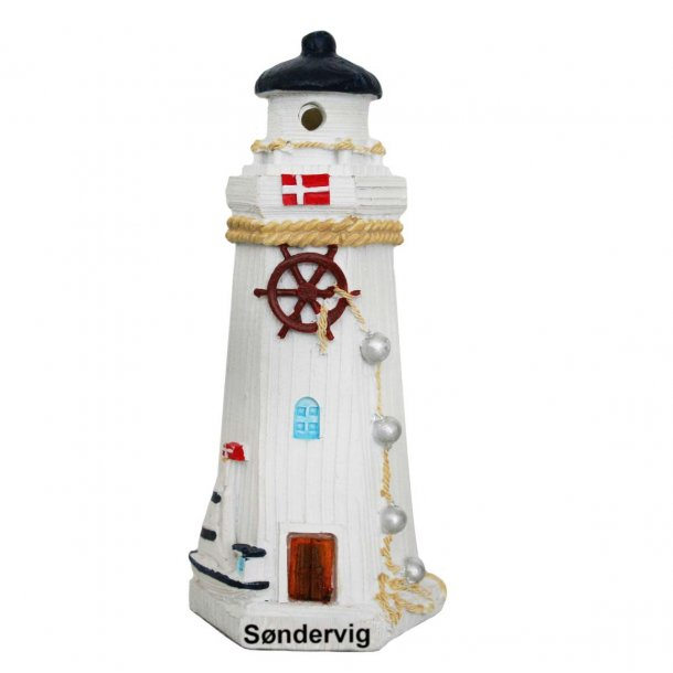 Fyrtårn Med Lys Vesterhavet Søndervig