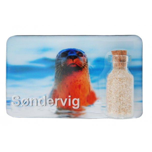 Magnet Med Flaske Sæl Vesterhavet Søndervig