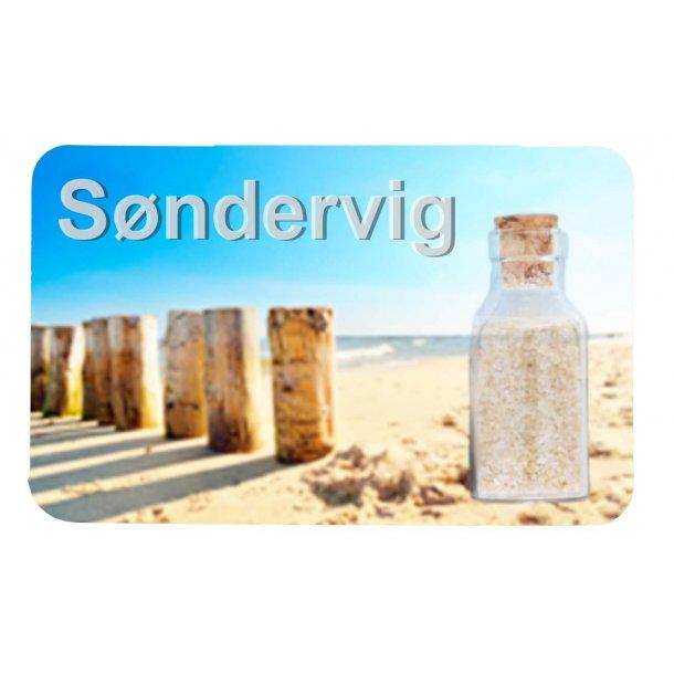 Magnet Med Flaske Søjler Vesterhavet Søndervig