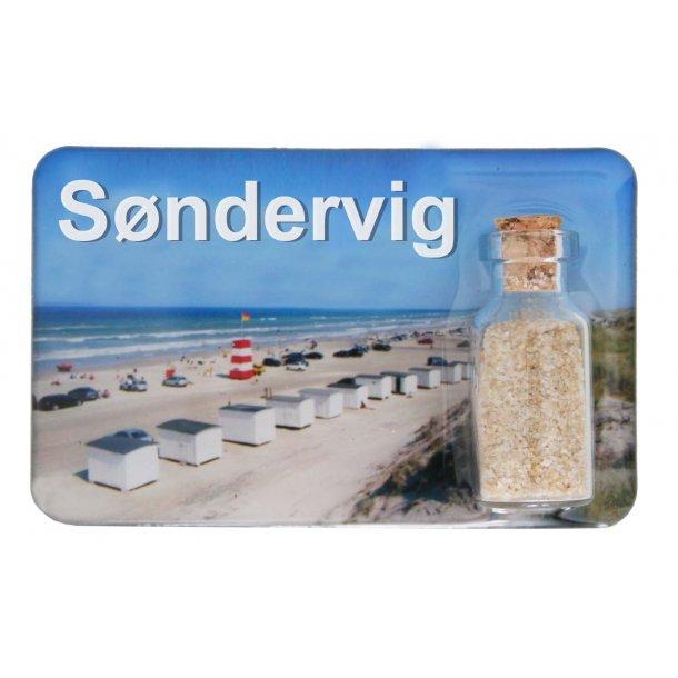 Magnet Med Flaske Huse Vesterhavet Søndervig