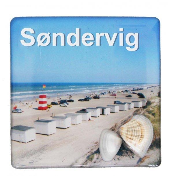Magnet Med Musling Huse Vesterhavet Søndervig