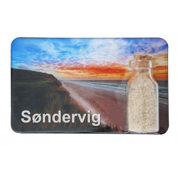 Magnet Med Flaske Strand Vesterhavet Søndervig