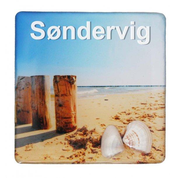 Magnet Med Musling Søjler Vesterhavet Søndervig
