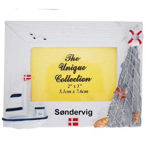 Billedramme Båd Vesterhavet Søndervig