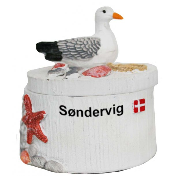 Smykkeskrin Måge Vesterhavet Søndervig