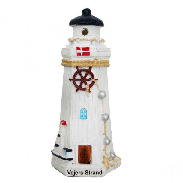 Fyrtårn Med Lys Vesterhavet Vejers Strand