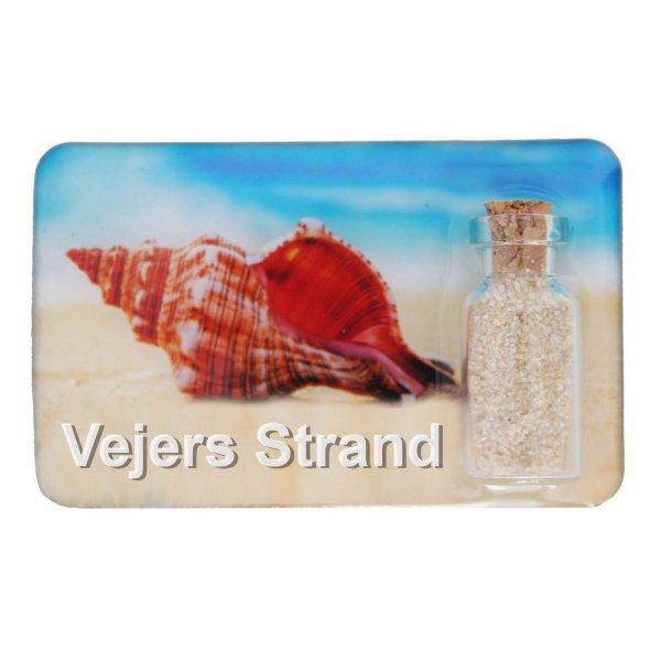 Magnet Med Flaske Konkylie Vesterhavet Vejers Strand