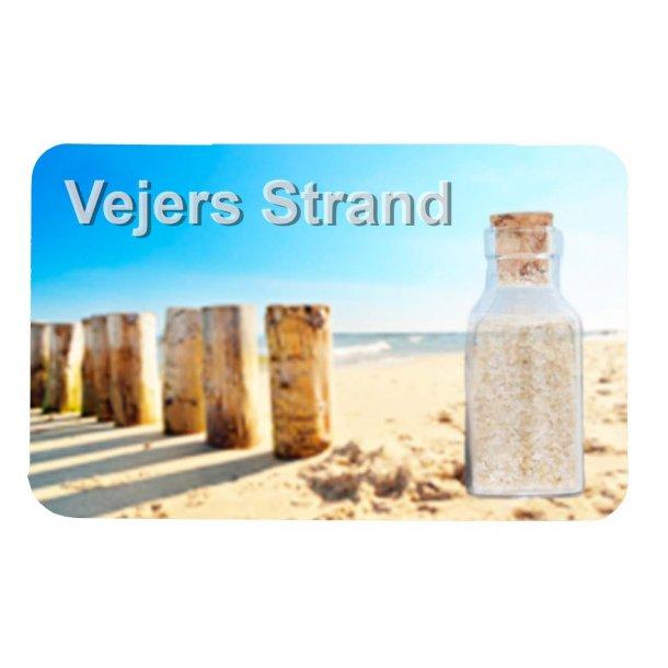 Magnet Med Flaske Søjler Vesterhavet Vejers Strand