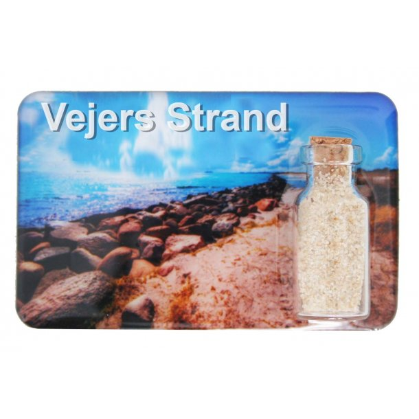 Magnet Med Flaske Sten Vesterhavet Vejers Strand