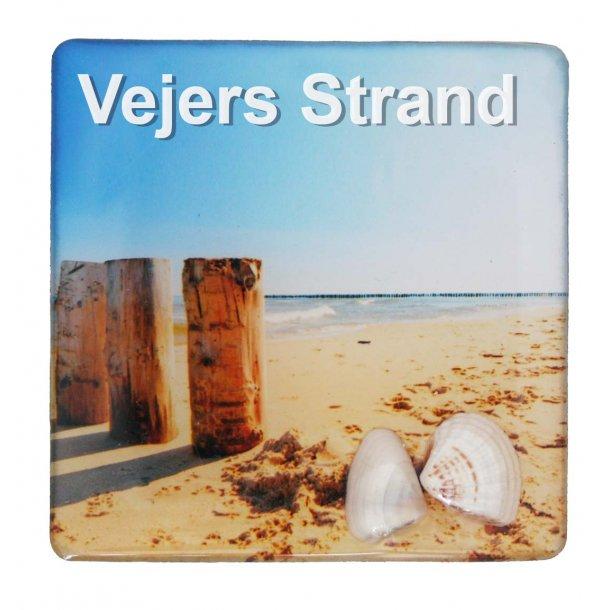 Magnet Med Musling Søjler Vesterhavet Vejers Strand